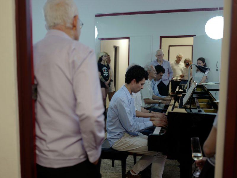 Piano duet – Gareth and Tibor…