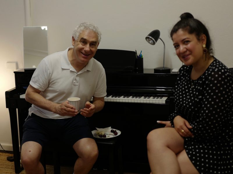 Niki and Andrew sharing their love for music…